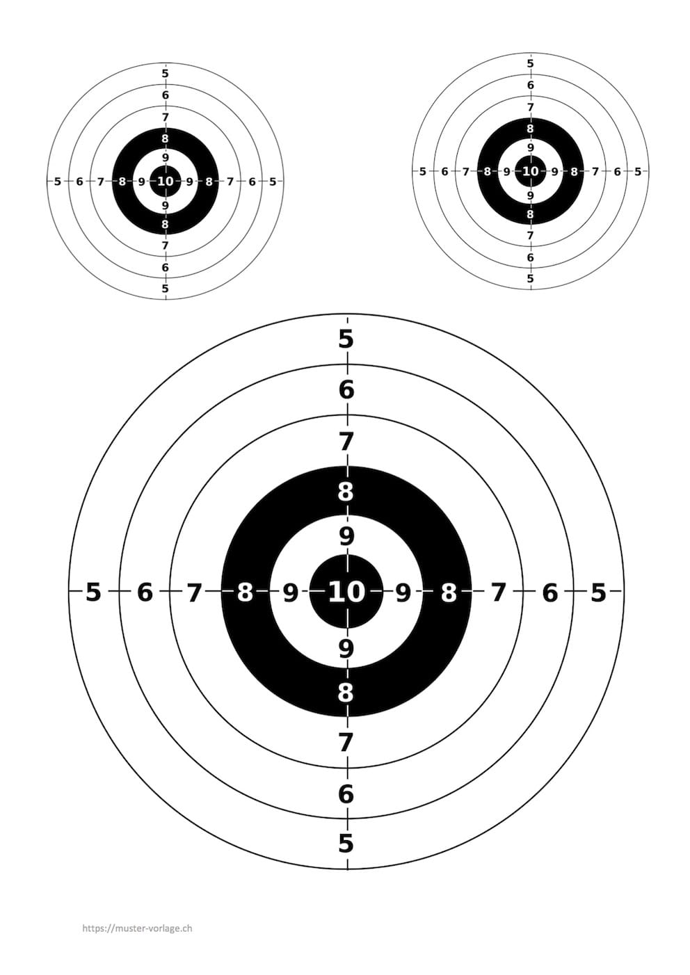 Zielscheibe Vorlage zum Ausdrucken – Muster-Vorlage.ch