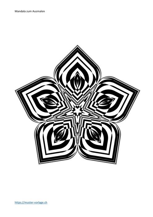 Mandala zum Ausmalen Vorlage 1