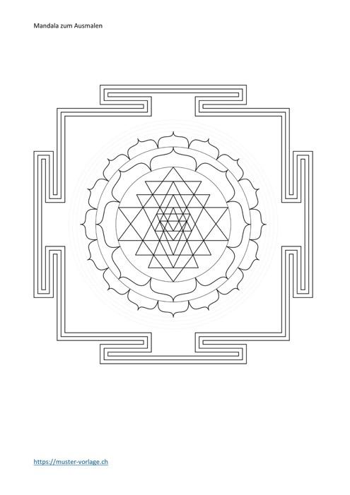 Mandala Vorlage Nr. 16