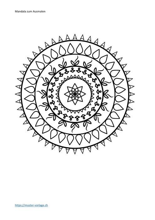 Mandala ausmalen Nr. 18