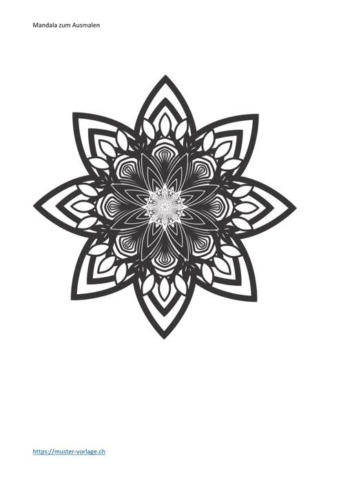 Mandala zum Ausmalen Nr. 19