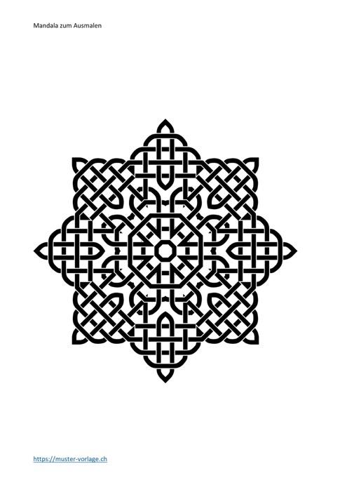 Mandala Vorlage zum Ausmalen 2