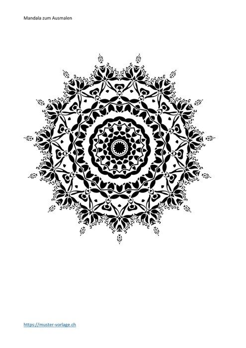 Mandala Vorlage Ausmalbild Nr. 24