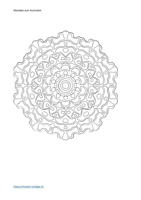 Mandala Vorlage zum Ausmalen 3