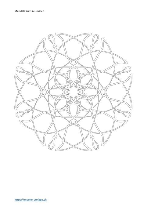 Mandala zum Ausmalen Vorlage 4