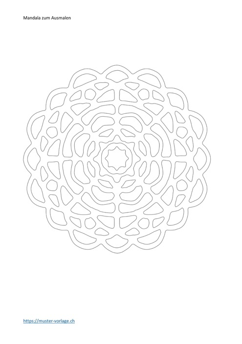 Mandala zum Ausmalen Vorlage 5