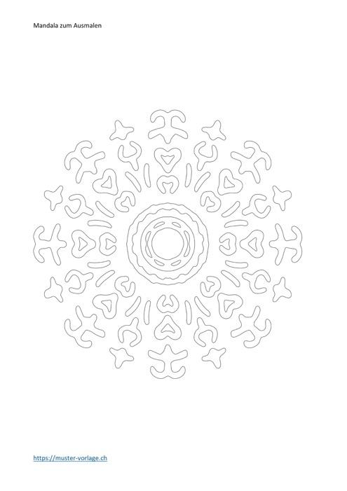 Mandala Vorlage zum Ausmalen Nr. 6