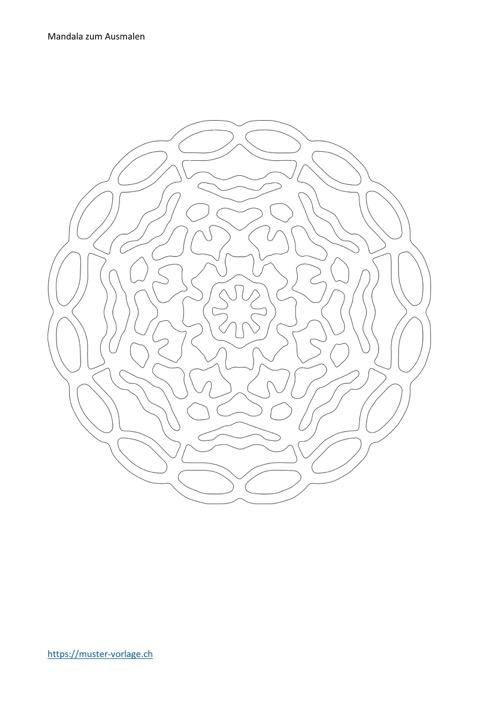 Mandala Vorlage zum Ausmalen Nr. 7