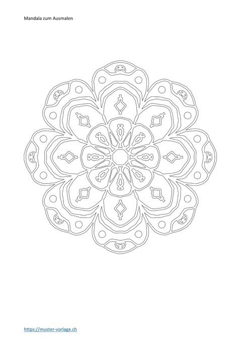 Mandala Vorlage zum Ausmalen 8