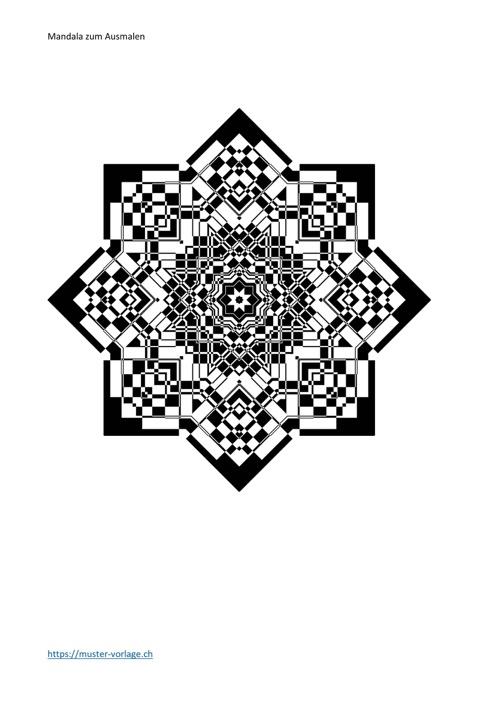 Mandala Vorlage zum Ausmalen Nr. 9
