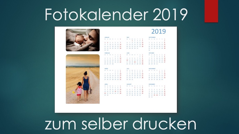 Fotokalender 2019 Schweiz selber drucken