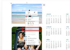 Fotokalender Bild ändern