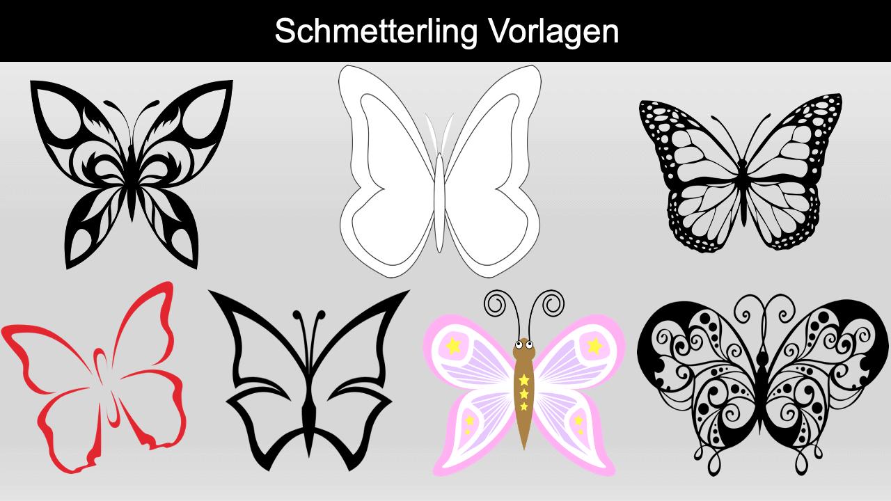 Schmetterling Vorlage Header