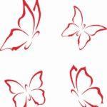 Schmetterling Vorlagen zum Ausdrucken (gratis)