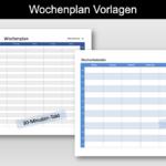 Wochenplan Vorlage (Excel)