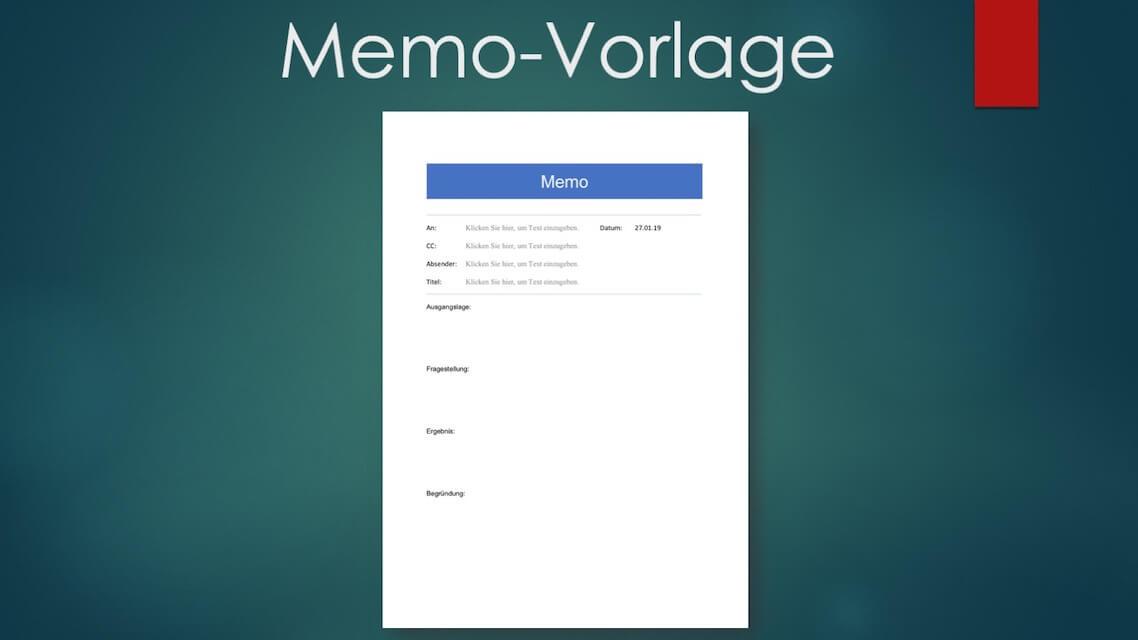 Memo-Vorlage Word