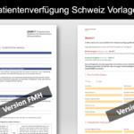 Patientenverfügung Schweiz – Muster Formular