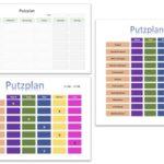Putzplan Vorlage (Familie, Schule, WG)