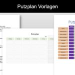 Putzplan Vorlage