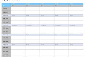 Tagesplaner-Vorlage Excel
