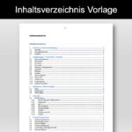 Inhaltsverzeichnis Vorlage (Word)