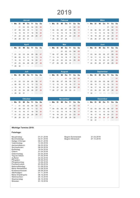 Kalender 2019 Excel Vorlagen Schweiz Muster Vorlagech