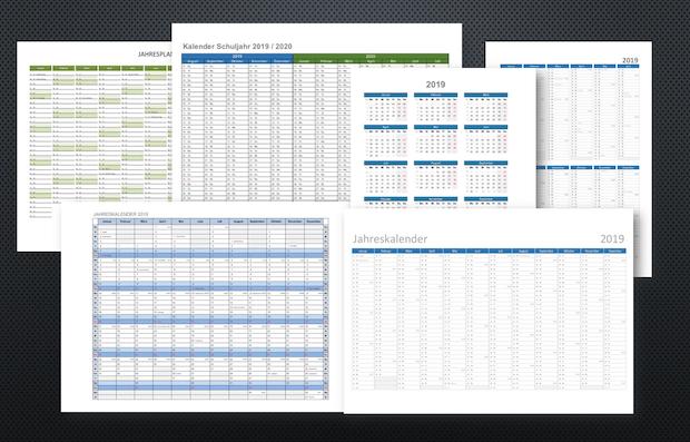 Kalender 2019 Schweiz Excel