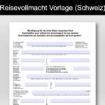 Reisevollmacht Schweiz – Vorlage im PDF-Format