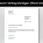 Swisscom Abo kündigen Vorlage