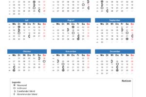 Mondkalender 2019 PDF