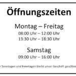Öffnungszeiten Schild Vorlage (Word) kostenlos