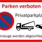 Parken verboten Schild zum Ausdrucken (Word)
