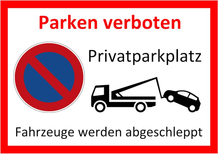 Parken verboten Schild 3