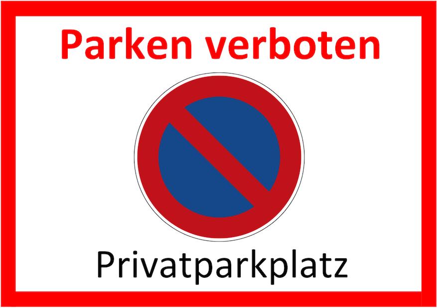 Parken verboten Schild 4