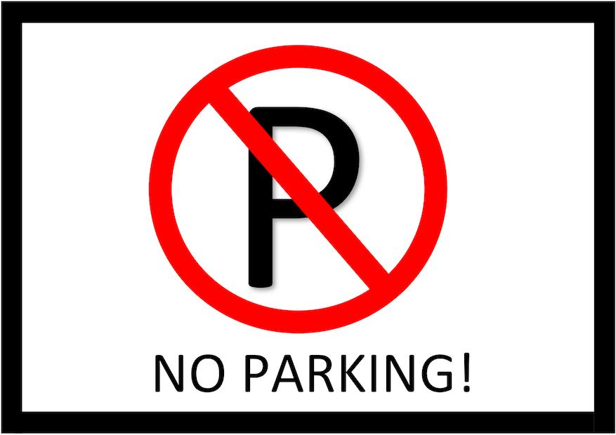 Parken verboten Schild 5