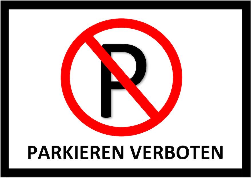 Parken verboten Schild 6