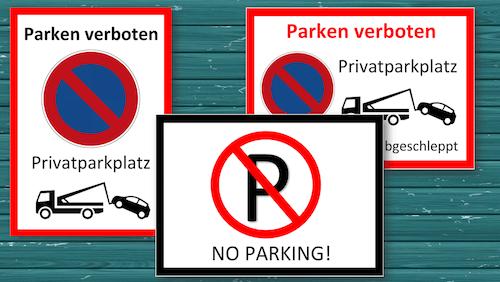 parken verboten schild schild parken verboten abschleppen. Black Bedroom Furniture Sets. Home Design Ideas