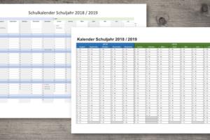 Schulkalender 18/19 Schweiz