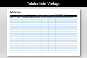 Firmen Telefonliste