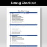 Umzug Checkliste Schweiz