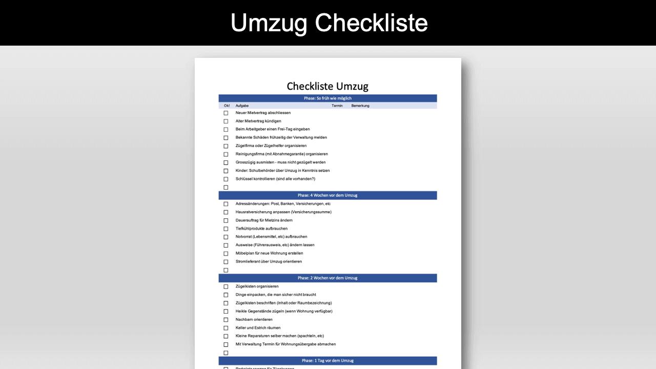 Umzug Checkliste Schweiz Header