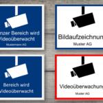 Videoüberwachung Hinweisschild – gratis (Word)