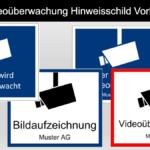 Videoüberwachung Hinweisschild Vorlage