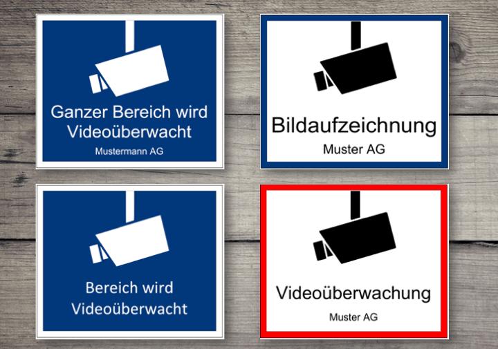 video berwachung hinweisschild gratis word muster. Black Bedroom Furniture Sets. Home Design Ideas