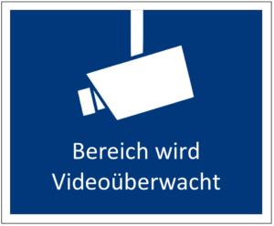 Videoüberwachung Schild ausdrucken