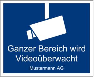 Videoüberwachung Schild Vorlage