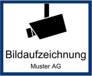 Videoüberwachung Schild zum Ausdrucken
