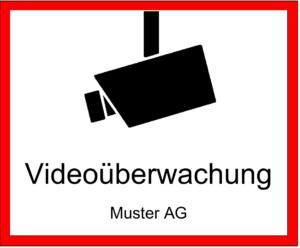 Videoüberwachung Schild Schweiz