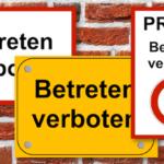 Betreten verboten Schild – zum Ausdrucken (Word & PDF)