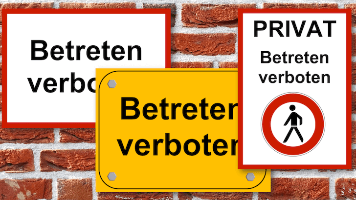 Betreten verboten Schild ausdrucken